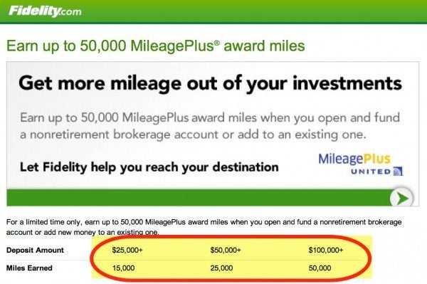 Get 50,000 United Miles When You Open A Fidelity Account