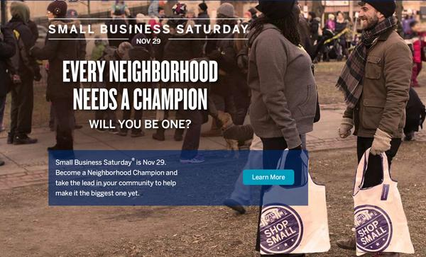 Great News AMEX Small Business Saturday Is Back