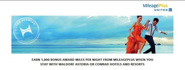 Hilton Offering 1,000 United Miles per Stay at Waldorf Astoria and Conrad Hotels