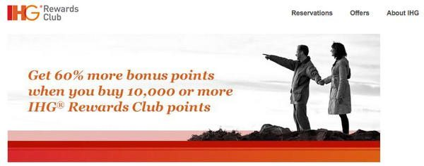 Limited Time:  Get a 60% Bonus When You Buy IHG Hotel Points