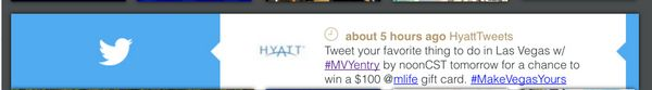 MakeVegasYours With MGM And Hyatt Las Vegas Trip Inspiration And Giveaways