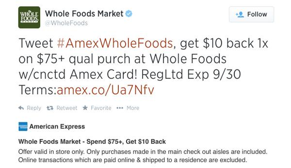 Save Money With These 3 AMEX Offers Cell Phone Bills JCPenney Whole Foods