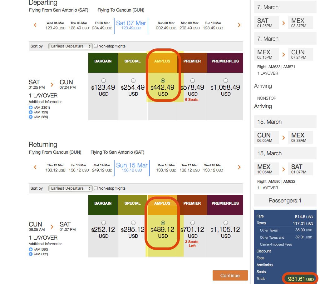 "1 ""Special"" Fare Ticket + Companion Ticket Taxes = 2 Tickets to Cabo"