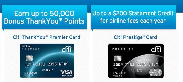 credit cards that earn citi thankyou points and now