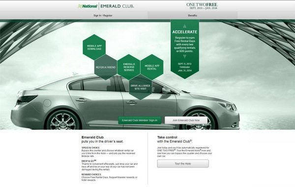 National Car Rental Launches OneTwo Free Promotion