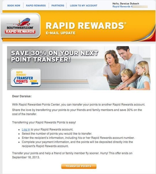Can You Transfer Southwest Points For The Companion Pass?