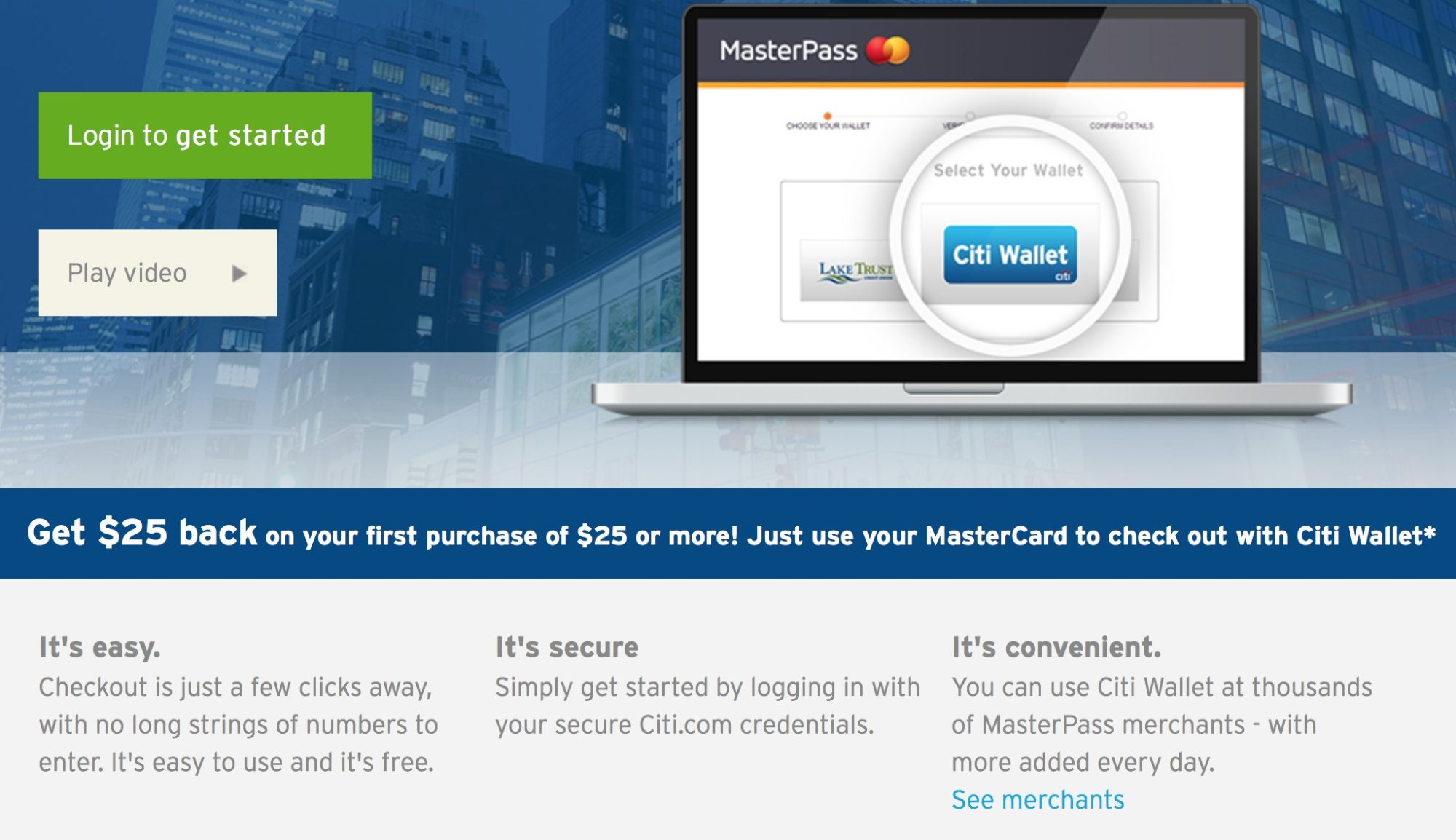 $25 Statement Credit for Using Citi MasterCard