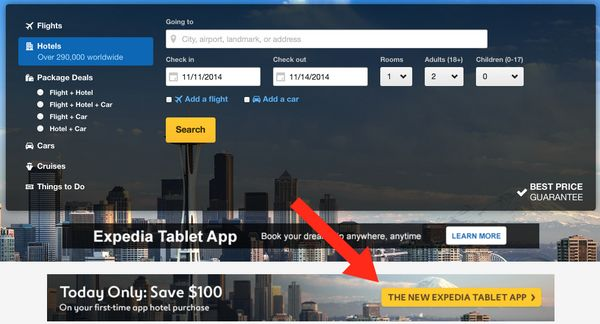 Ends tonight save 100 on 400 hotel booking million for Tablet hotel booking