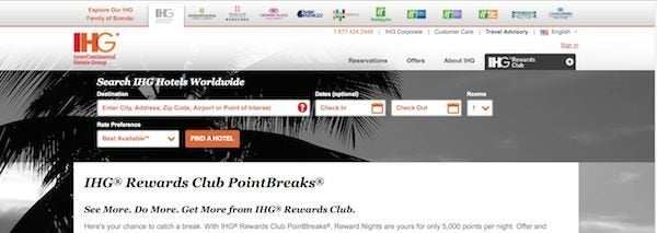 New IHG PointBreaks Hotels For Only 5000 Points 35 Per Night
