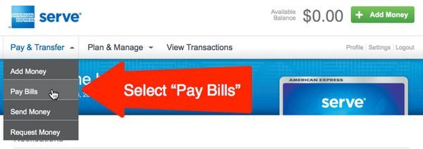 Serve Bill Pay