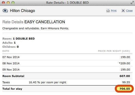 150 AMEX Credit At Select Chicago Hotels Through December 17, 2014
