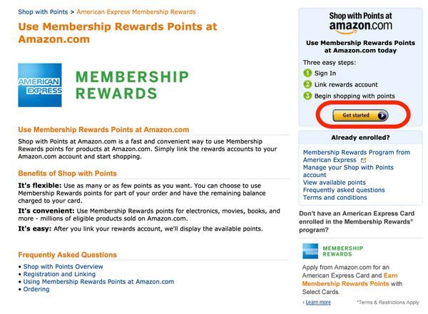 $20 Credit At Amazon When You Shop With AMEX Membership Rewards Points