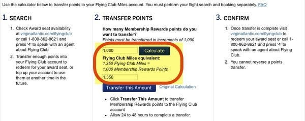 35 Bonus When You Transfer American Express Membership Rewards Points To Virgin Atlantic