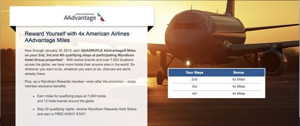 4X American Airlines Miles or 3X United Airlines Miles When You Stay at Wyndham Hotels