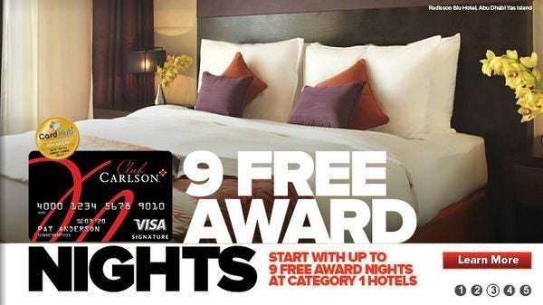 85,000 Club Carlson Points With the Club Carlson Card