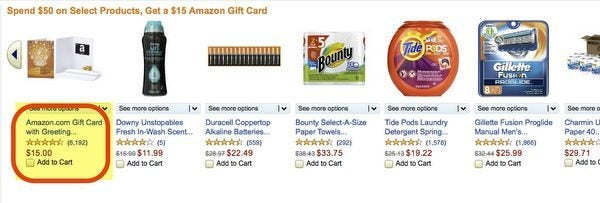 Get A 15 Amazon Gift Card And 250 Chase Ultimate Rewards Points With 50 Amazon Purchase Of Household Supplies