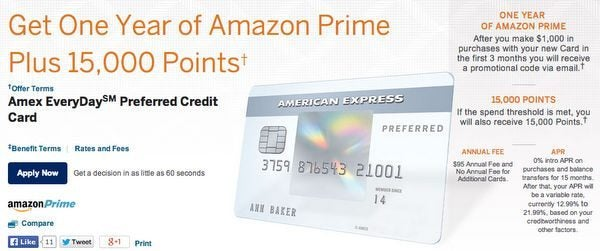 Get A Year Of Free Amazon Prime Membership With American Express EveryDay And Blue Cash Cards