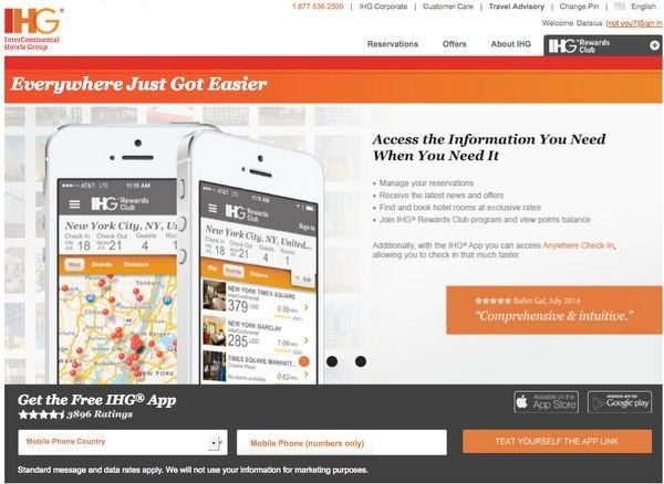 Get Early Access to Sales With the IHG App