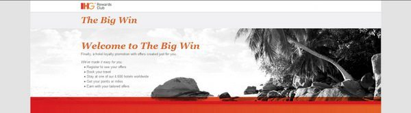 "IHG Rewards ""The Big Win"" Promotion"