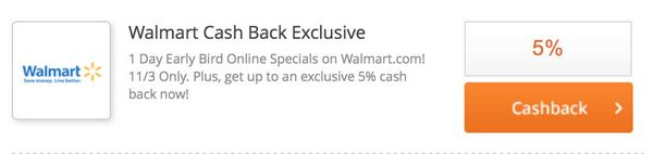 5% Cash Back at Walmart or 10% With Discover Card