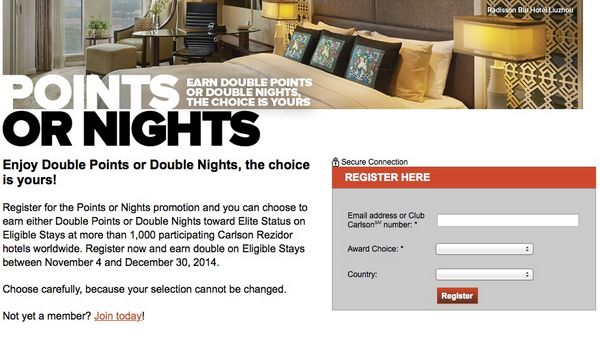 Earning Double Club Carlson Points or Nights, Which Is Better?