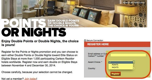 Earning Double Club Carlson Points Or Nights Which Is Better