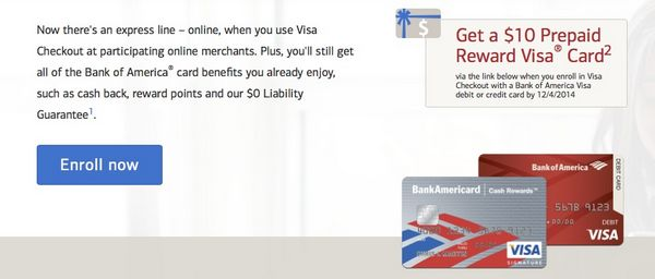 Easy $10 for Some Bank of America Cardholders