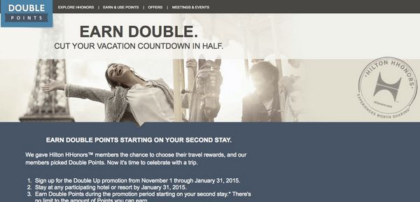 Is The Hilton Double Points Promotion A Good Deal