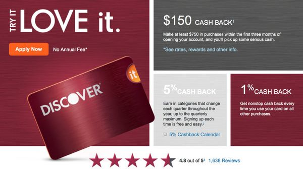 New Higher Sign Up Bonus 150 For Discover It Cash Back Card