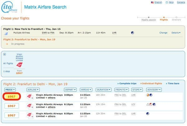 Search For Cheap Airfare Like A Pro Part 3 ITA Matrix Multi City Search