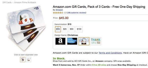 Spend 45 On Amazon Gift Cards Get A 10 Amazon Credit