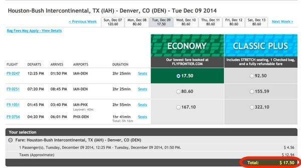 Today Only Frontier Airlines Fares As Low As 19
