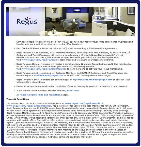 Use Regus Business Lounges For Free With Your Southwest Account