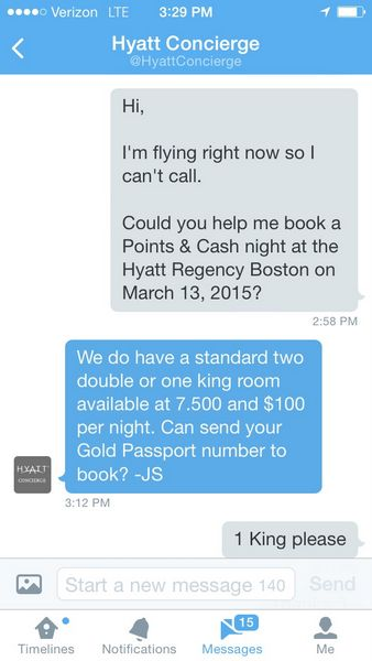 Use Twitter To Book Hyatt Stays