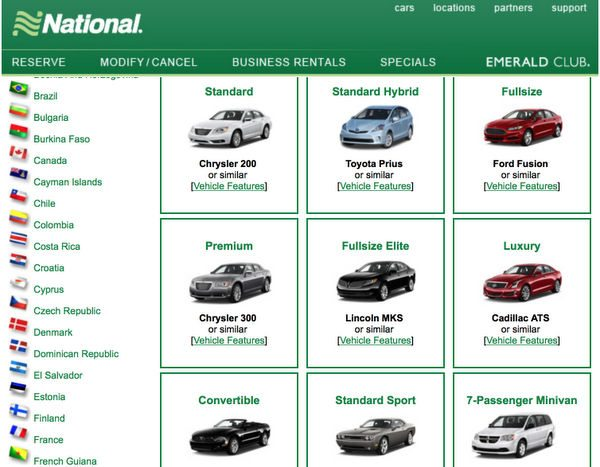 Blog Giveaway: National Car Executive Status & $600 in Gift Cards!