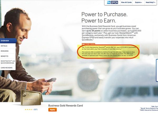 75,000 Point American Express Business Gold Card – Apply by August 9, 2012 [Expired]