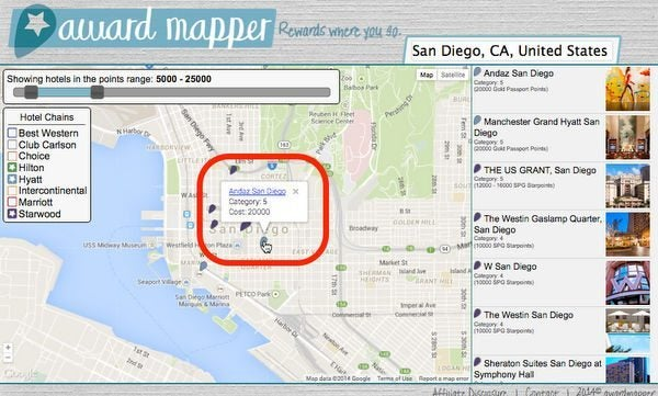 Save Time Using AwardMapper To Search For Hotel Award Nights
