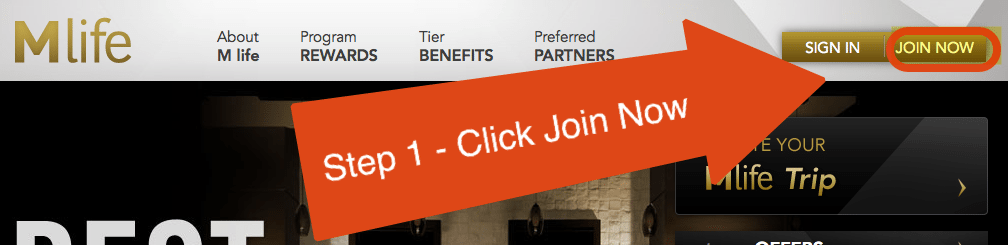 Step 1 - Click Join Now