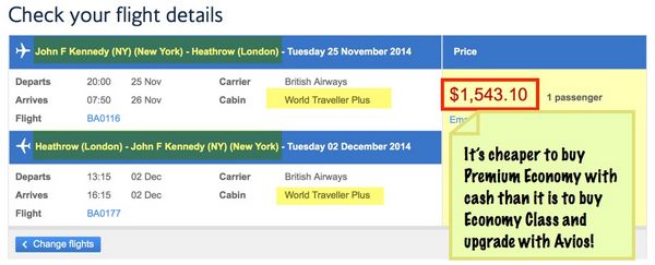 British Airways Avios Part 5 Using Avios To Upgrade Paid British Airways Tickets