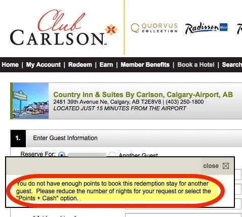 Can You Book A Friend Using The Club Carlson Free Award Night