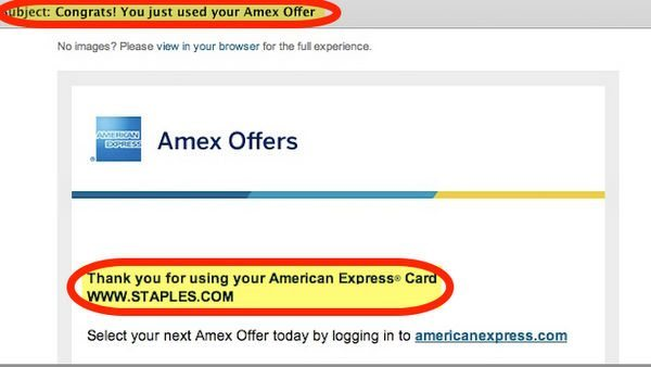 Hot Targeted 25 Off 100 At Staples AMEX Offer Works On Visa Gift Card Purchases