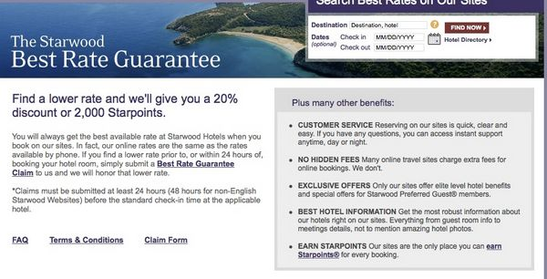 News You Can Use – 2,000 Starwood Points or 20% Off Starwood Best Rate Guarantee, 5% Back at Marriott Hotels, and More!