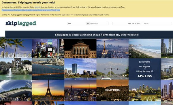 United Airlines Orbitz Suing Skiplagged For Hidden City Ticketing