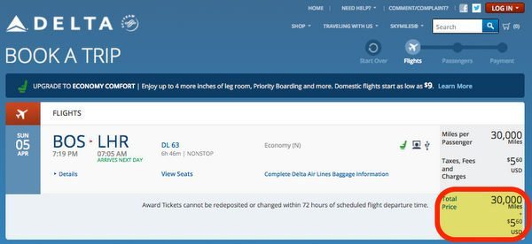 Why Are Fees On 1 Way Delta Award Tickets From Europe Higher Than Round Trip Tickets From The US