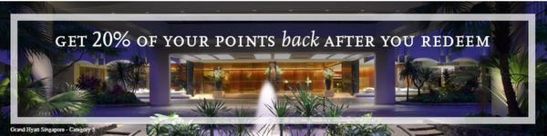 20 Points Back On Hyatt Award Stays For Chase Hyatt Cardholders