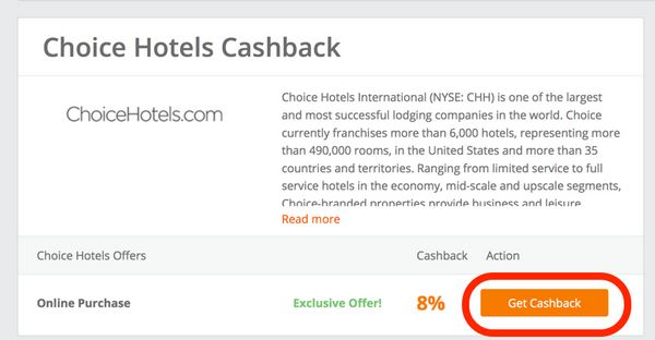 8 Cash Back Triple Points On Paid Stays At Choice Hotels Limited Time Offer