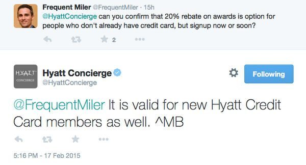 Hyatt Updates New Cardholders Can Get 20 Rebate Better Offer For Card And More