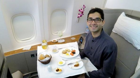 How to Fly Like a Baller in First Class to India