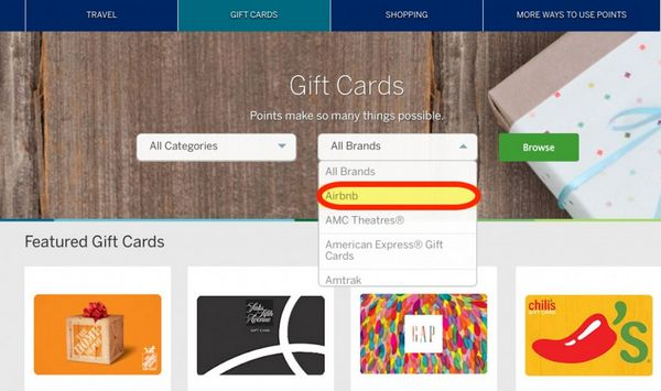 25 Bonus When You Redeem AMEX Membership Rewards Points For Airbnb Gift Cards