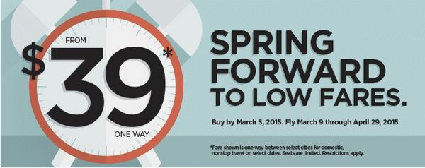 2 Days Only: Frontier $39 Sale From 44 Cities